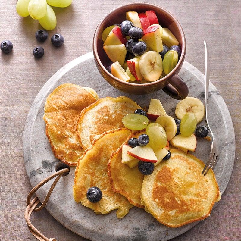 Foto van Wittebonenpannenkoekjes met fruitsalade door WW
