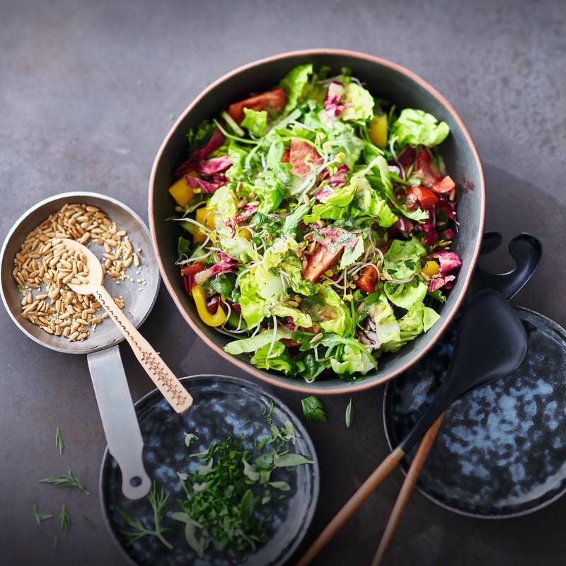 Foto van Gemengde salade met kruidendressing door WW