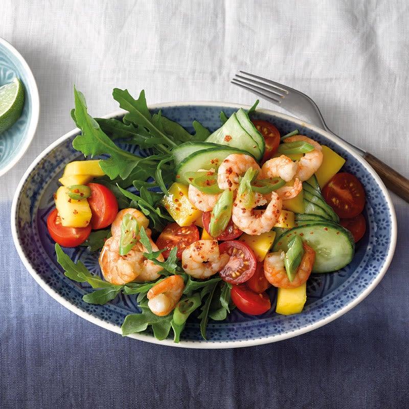 Photo de Salade de crevettes et de mangue prise par WW