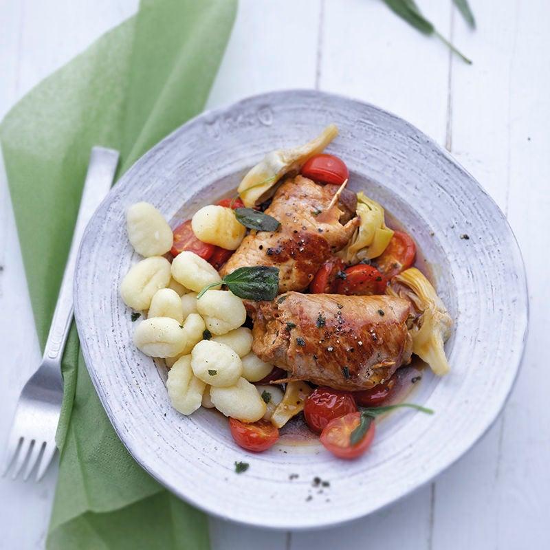 Photo de Roulades de porc, sauce et gnocchis prise par WW