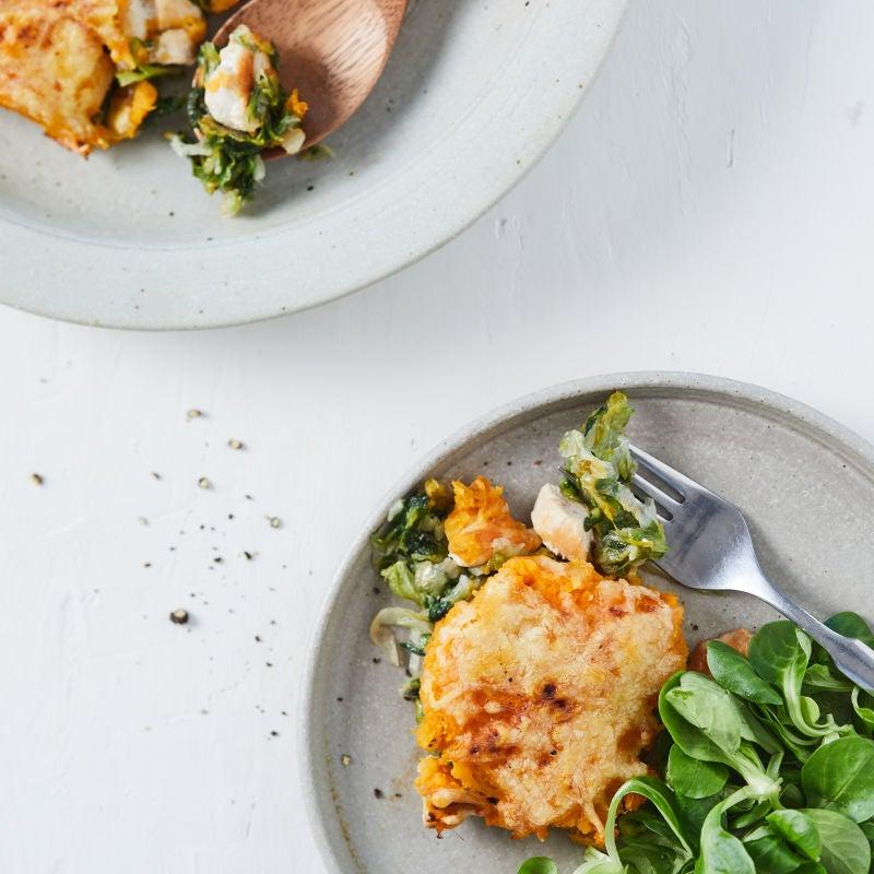 Foto van Ovenschotel zoete aardappel en andijvie door WW