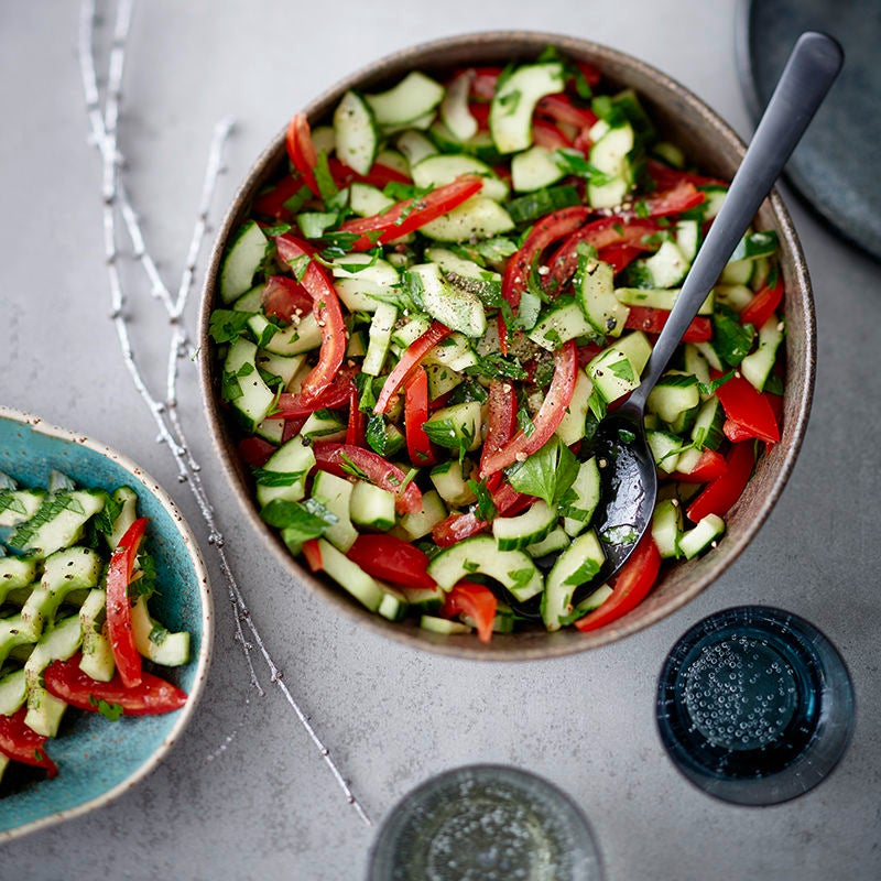 Photo de Salade de tomates et de concombres prise par WW