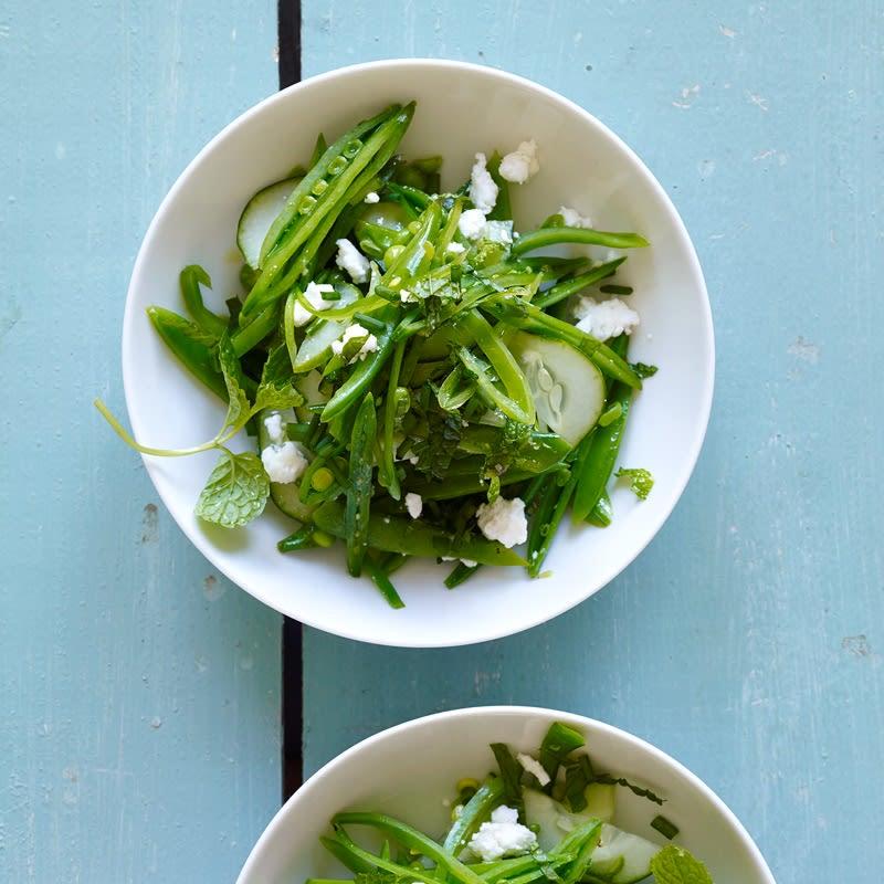 Foto van Salade van peultjes en citroen door WW