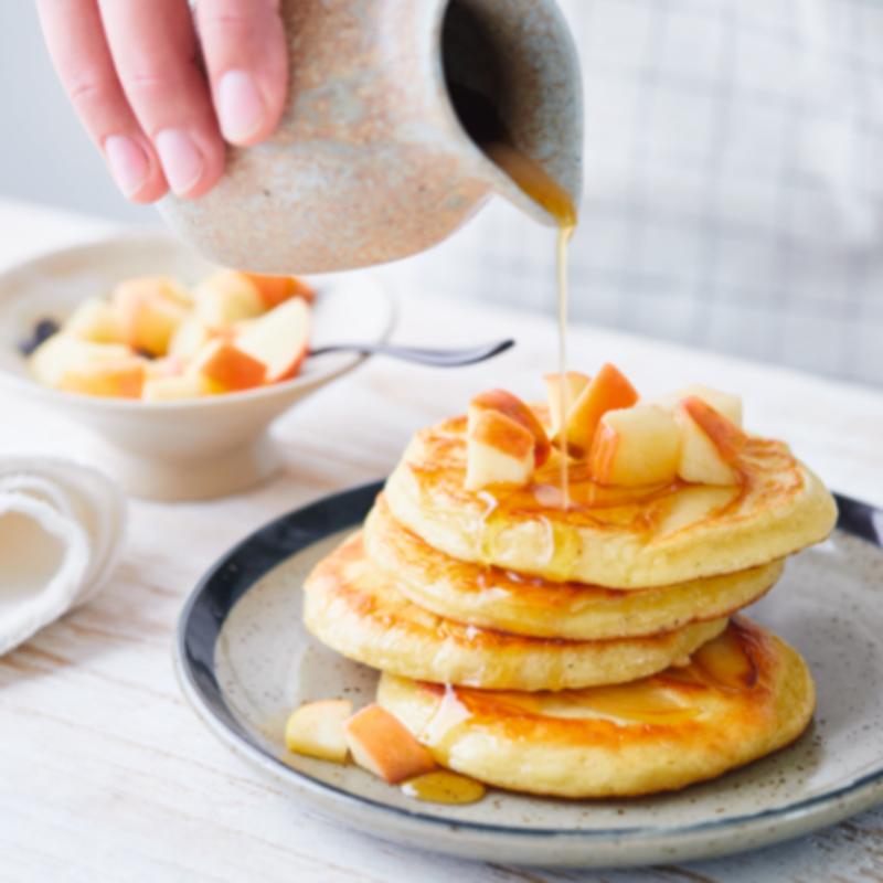 Foto van Amerikaanse pancakes met appel door WW