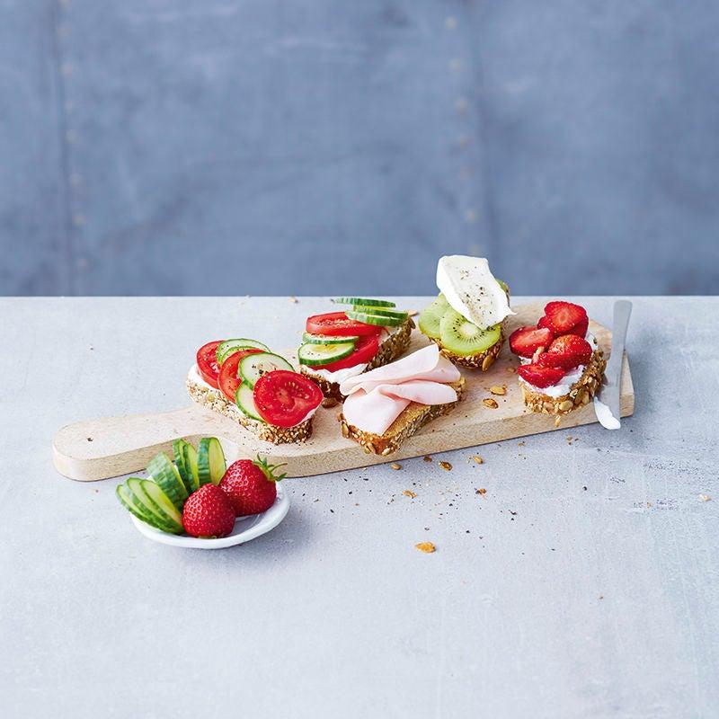 Foto van Kleurrijk broodplankje door WW