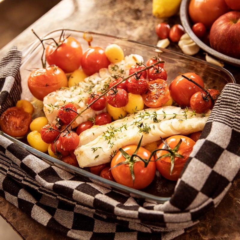 Photo de Flétan aux pommes de terres et tomates au four prise par WW