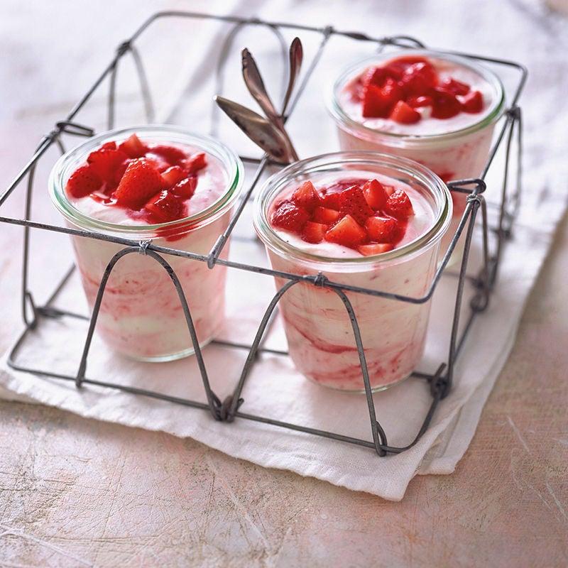 Foto van Snelle aardbeienmousse door WW