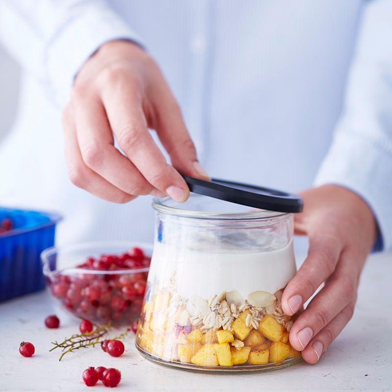Foto van Overnight oats met vanille & perzik door WW