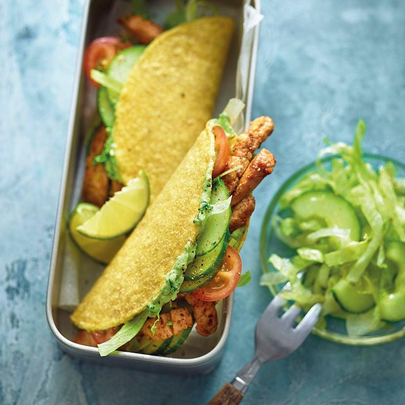 Foto van Taco's met varkensvlees en avocadocrème door WW