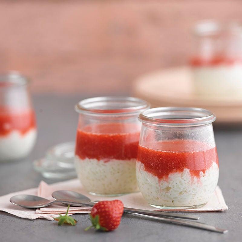 Photo de Riz au lait et miroir aux fraises prise par WW