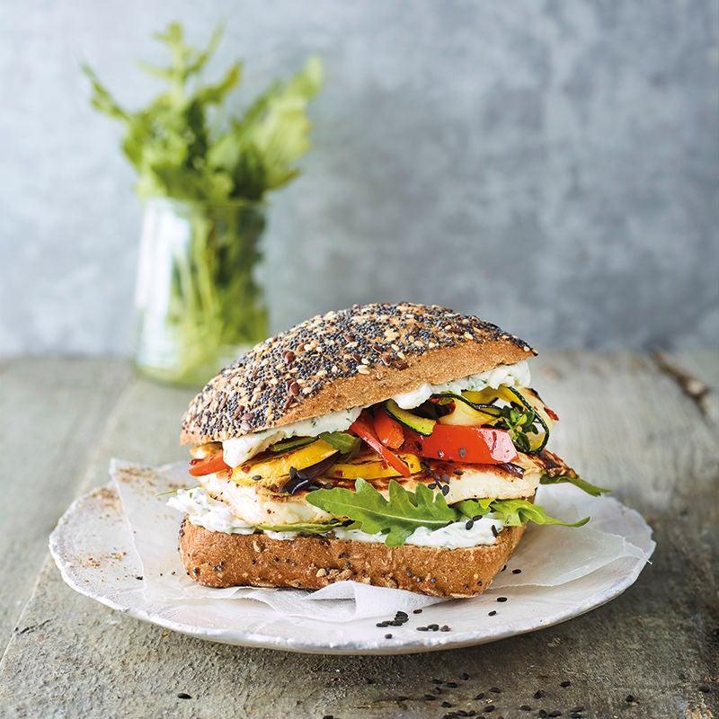Foto van Geroosterde-groenteburger met halloumi door WW