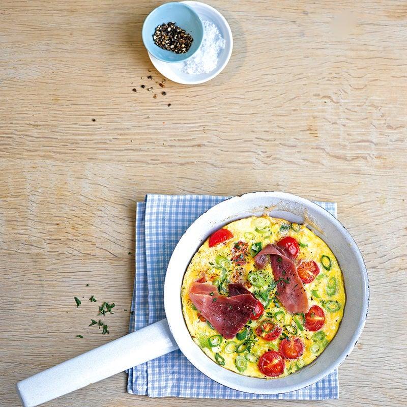 Photo de Omelette aux tomates et jambon prise par WW