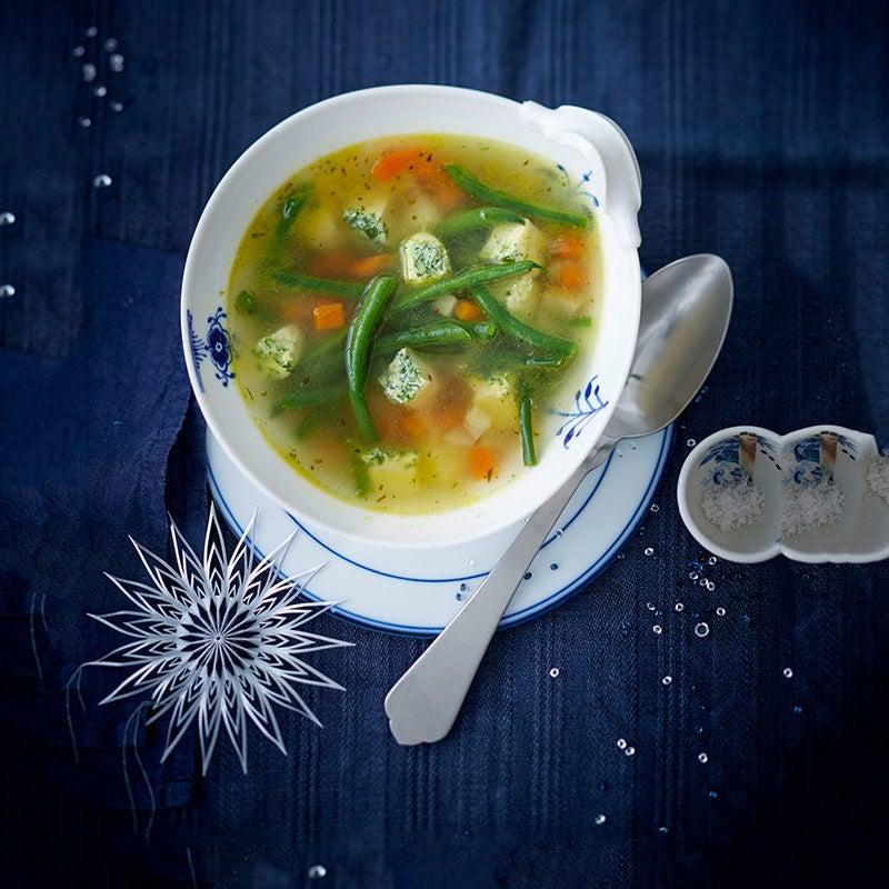 Foto van Groentesoep met ei door WW