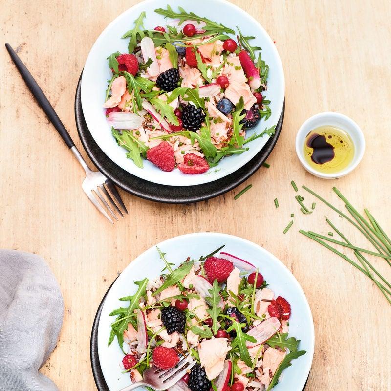 Photo de Salade de truite au riz sauvage et fruits rouges prise par WW