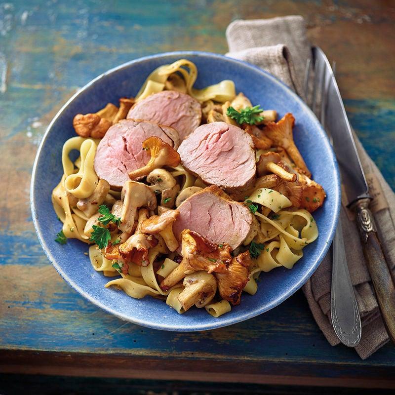 Foto van Tagliatelle in champignonsaus met varkenshaas door WW
