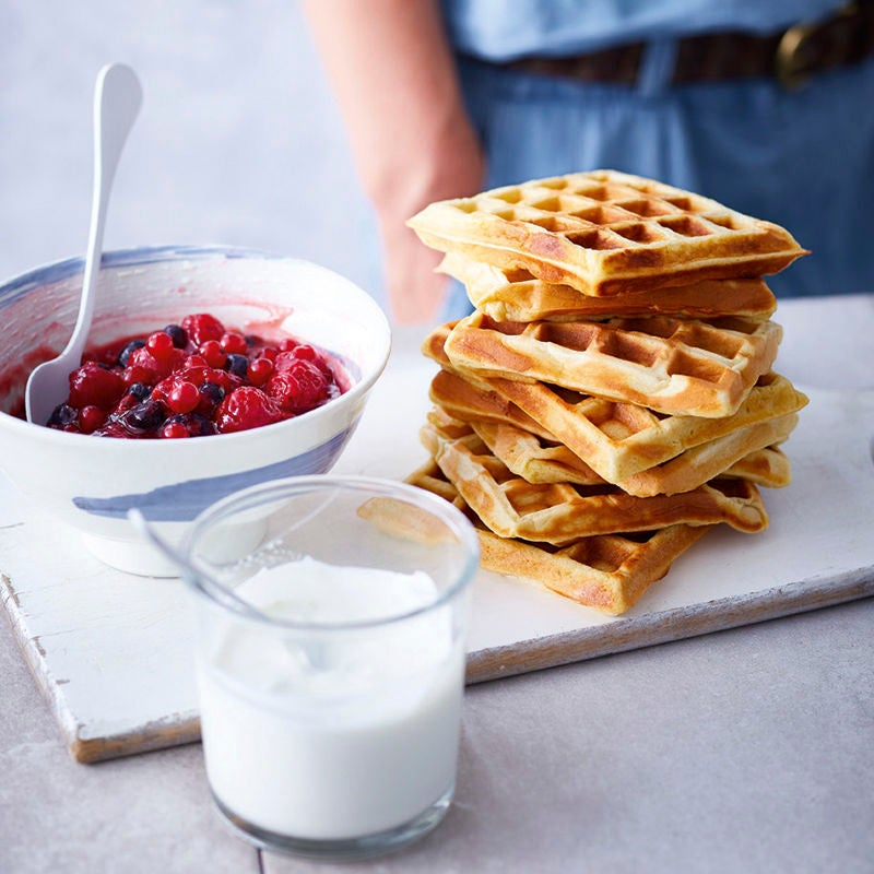 Photo de Gaufres au skyr et fruits rouges chauds prise par WW
