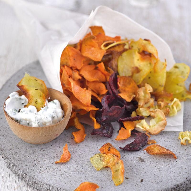 Photo de Chips de légumes au fromage blanc aux herbes prise par WW