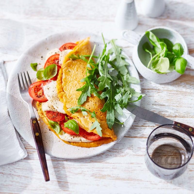Photo de Omelette aux tomates et à la mozzarella prise par WW