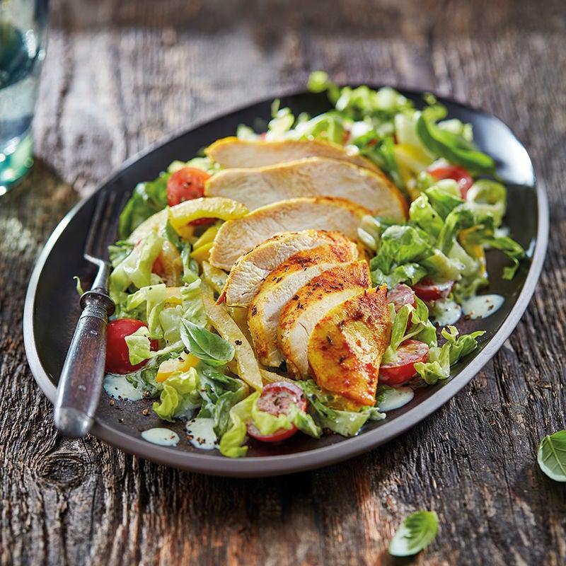 Foto van Kruidige kip uit de oven met salade door WW