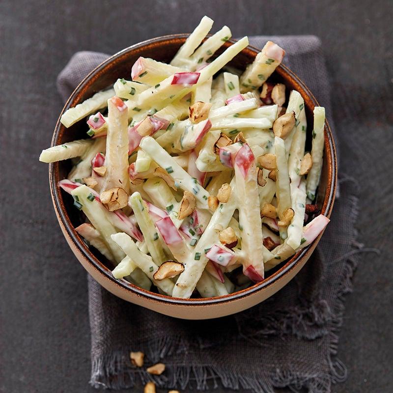 Photo de Salade de chou-rave et de pomme et vinaigrette au yaourt prise par WW