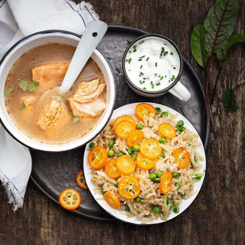 Photo de Saumon mi-cuit au bouillon épicé prise par WW