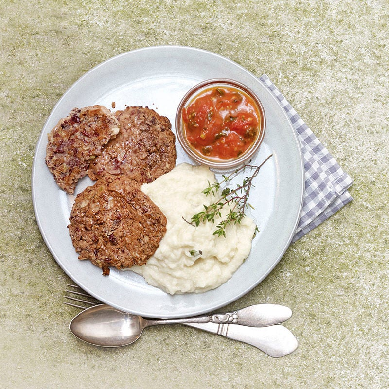 Foto van Vegetarische burgers met peterseliewortelstamppot door WW