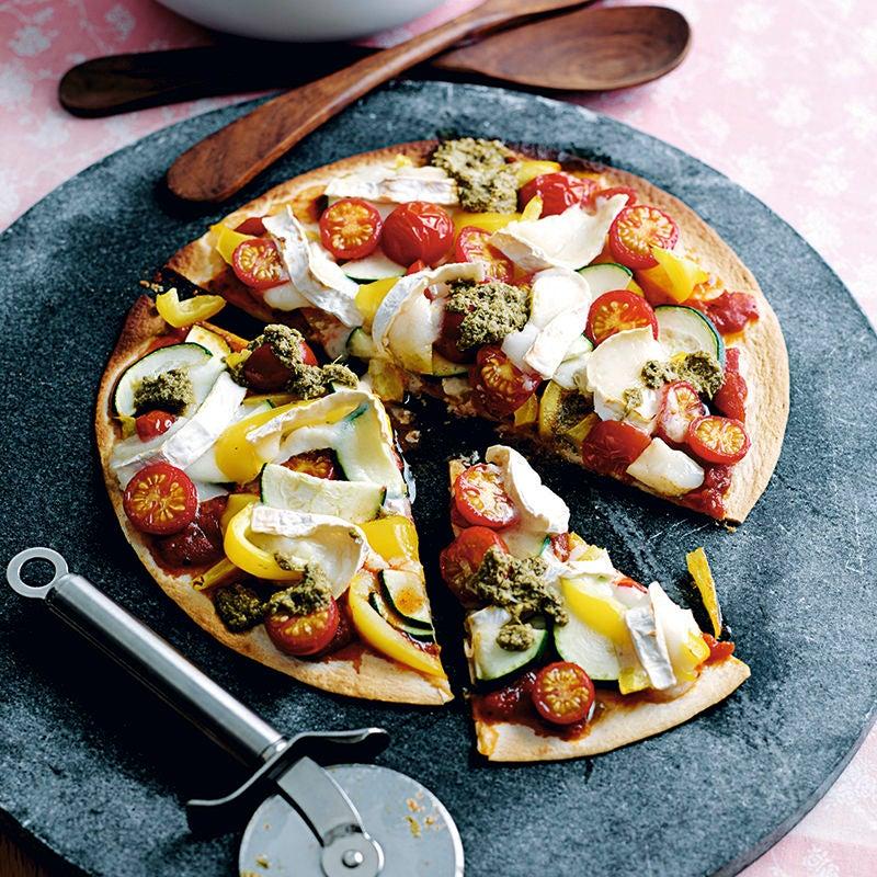 Photo de Pizza express aux légumes et fromage de chèvre prise par WW