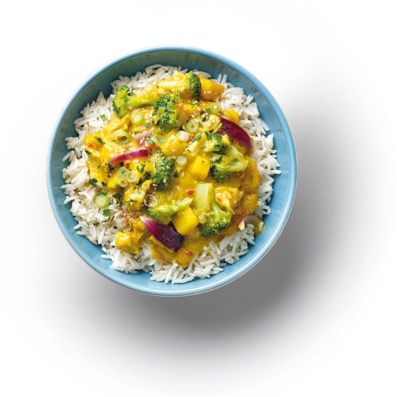 Foto van Oosterse mango curry met rijst door WW