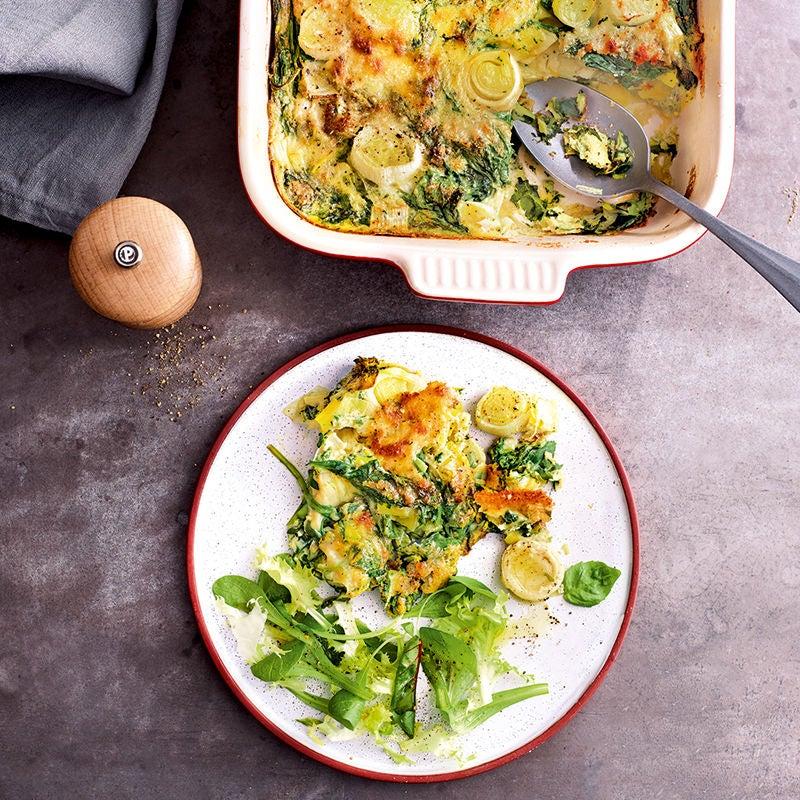 Foto van Frittata met spinazie en prei door WW
