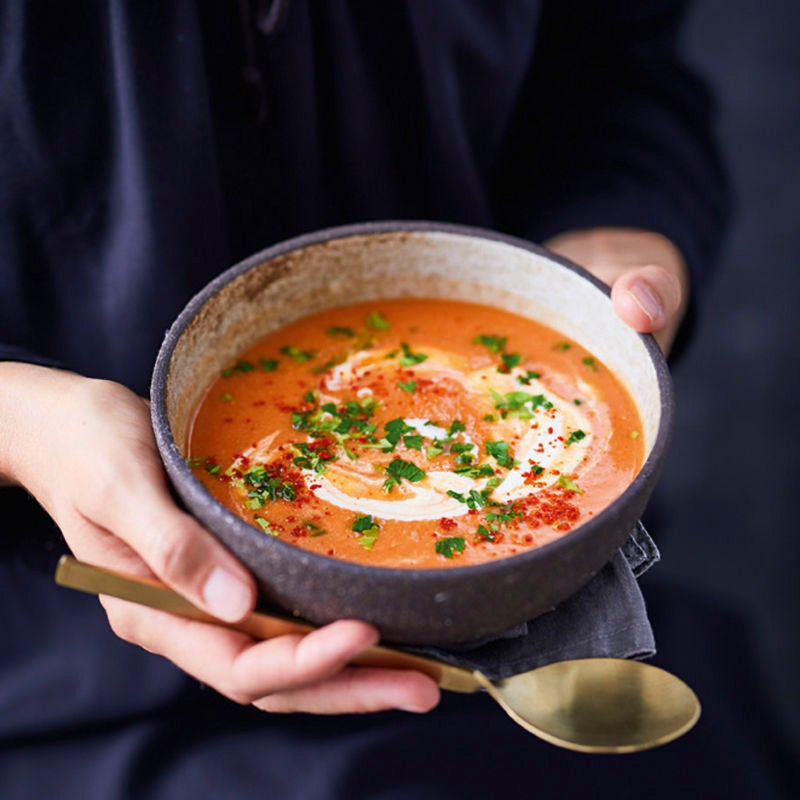 Photo de Potage de tomates et de lentilles prise par WW