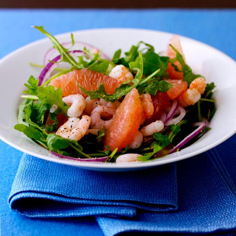 Photo de Salade roquette aux crevettes et pamplemousse prise par WW