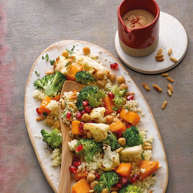 Foto van Warme salade van ovengroenten met couscous door WW