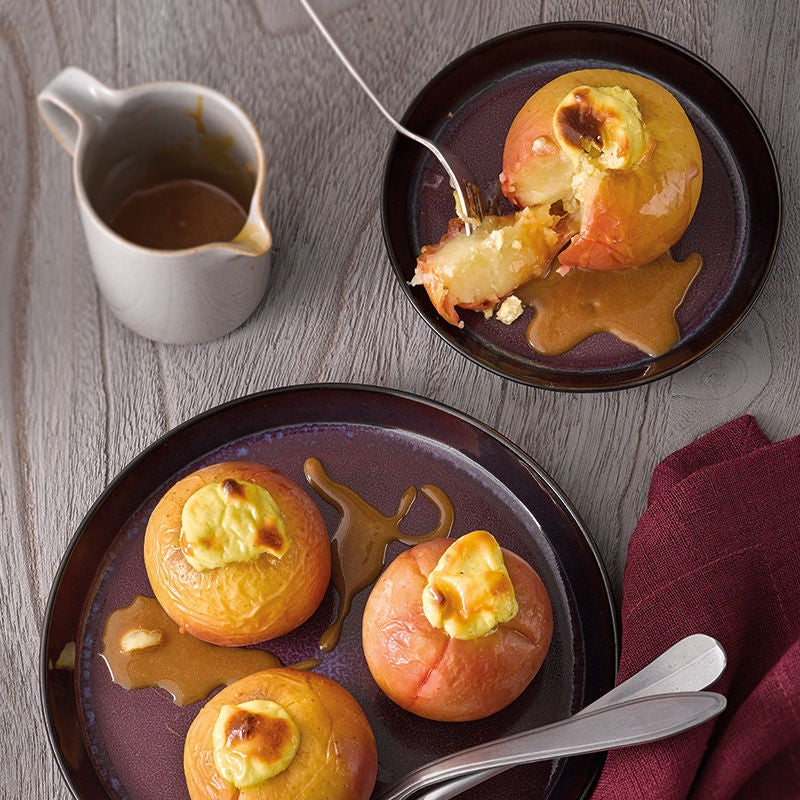 Foto van Gepofte appels met cheesecakevulling door WW
