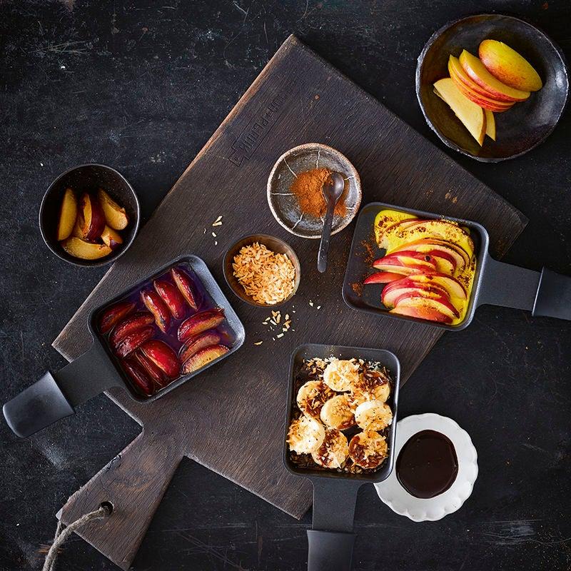 Foto van Raclette met banaan en chocolade door WW