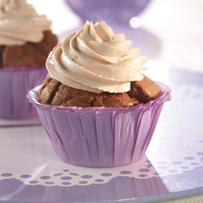 Foto van Chocolade-karamelcupcakes door WW