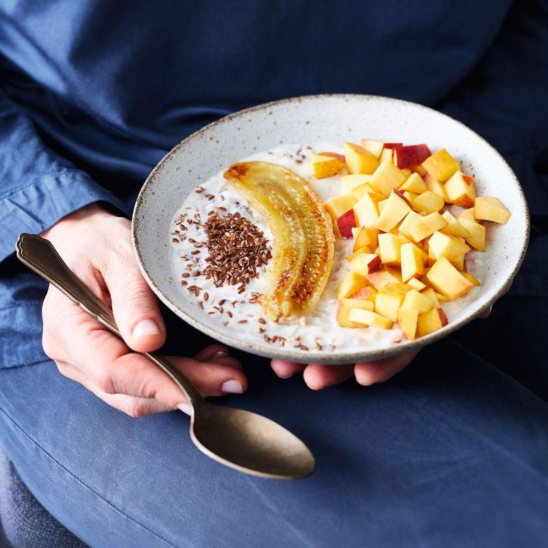 Photo de Porridge aux nectarines et à la banane prise par WW