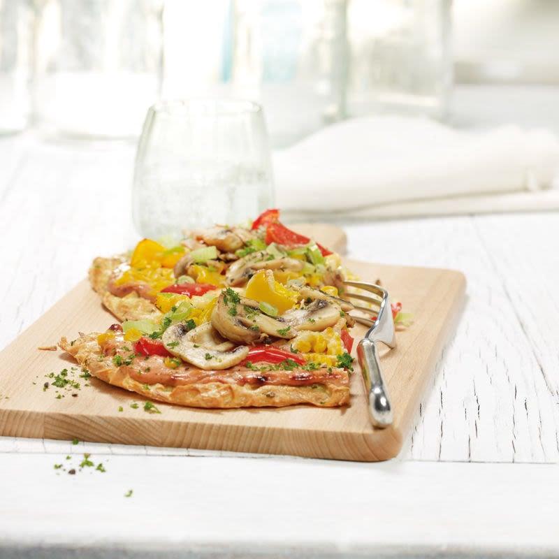Foto van Kleurrijke aardappel-groentepizza door WW