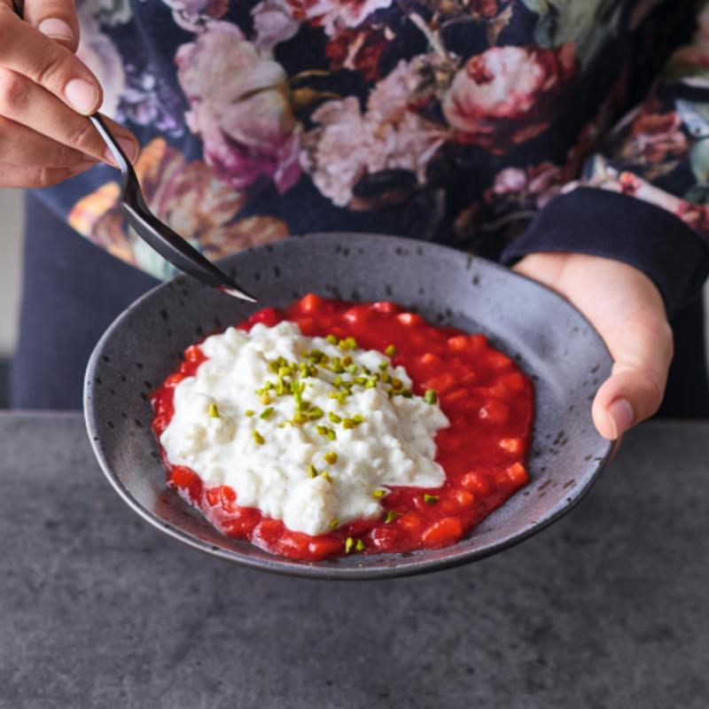 Photo de Riz à la vanille et sauce aux fraises prise par WW